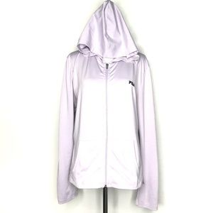 FILA Purple Full Zip Long Sleeve Hoodie A130349